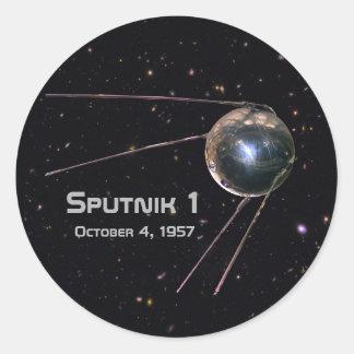Adesivo Redondo Satélite de Sputnik 1