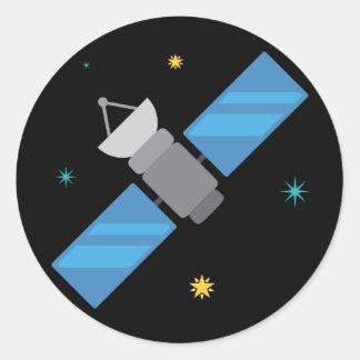 Adesivo Redondo Satélite Emoji do espaço