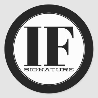 Adesivo Redondo SE assinatura