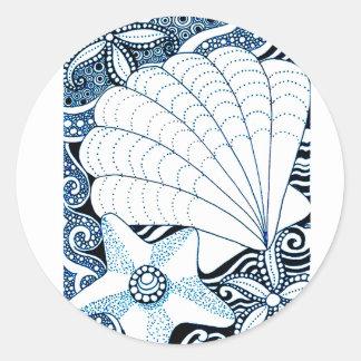 Adesivo Redondo Seashells