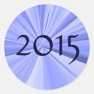 Adesivo Redondo Selo 2015 do envelope por Janz
