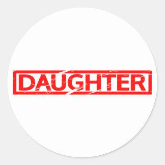 Adesivo Redondo Selo da filha