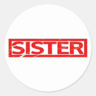 Adesivo Redondo Selo da irmã