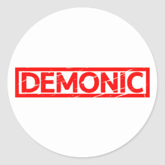 Adesivo Redondo Selo demoníaco