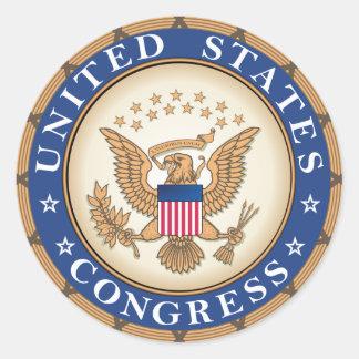 Adesivo Redondo Selo do congresso dos E.U.