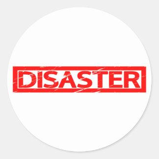 Adesivo Redondo Selo do desastre