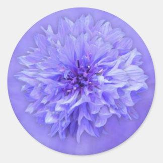 Adesivo Redondo Selo do envelope floral do Lilac