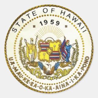 Adesivo Redondo Selo do estado de Havaí