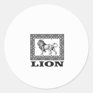 Adesivo Redondo selo do leão