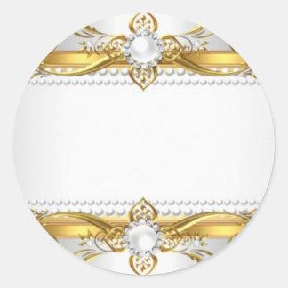 Adesivo Redondo Selo real do convite do ouro