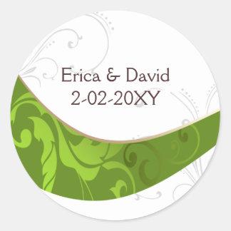 Adesivo Redondo selo verde do envelope