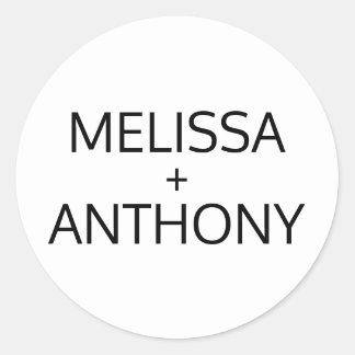 Adesivo Redondo Selos brancos pretos na moda modernos do monograma