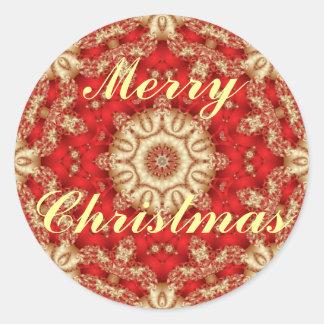 Adesivo Redondo Selos do envelope do laço do Feliz Natal