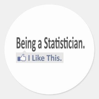 Adesivo Redondo Sendo um estatístico… eu gosto deste