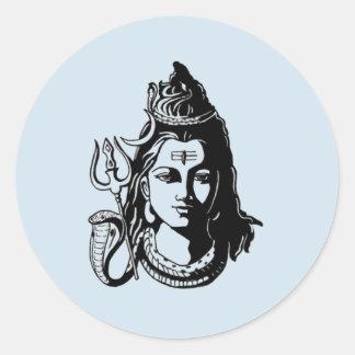 Adesivo Redondo Senhor Shiva