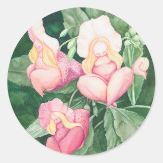 Adesivo Redondo senhoras da flor