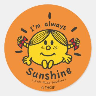 Adesivo Redondo Senhorita pequena Luz do sol | eu sou sempre luz