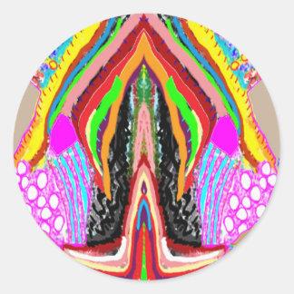 Adesivo Redondo Sensualidade artística do gráfico da imaginação