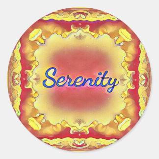 Adesivo Redondo Serenidade quadro inspirada do amarelo vibrante do