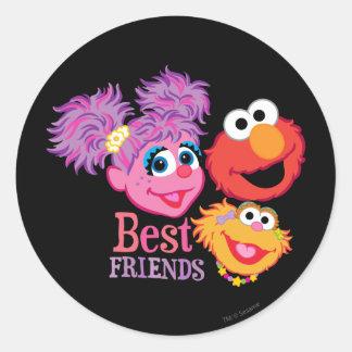 Adesivo Redondo Sesame Street dos melhores amigos