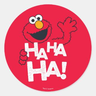 Adesivo Redondo Sesame Street | Elmo - Ha Ha Ha!
