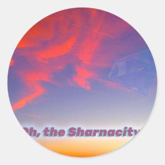 Adesivo Redondo Sharnacity