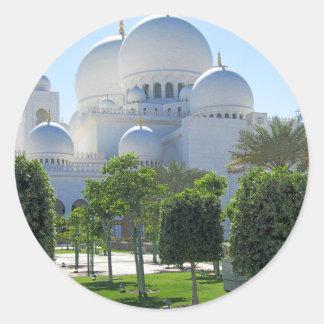 Adesivo Redondo Sheikh Zayed Grande Mesquita Abóbada