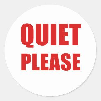 Adesivo Redondo Silêncio por favor