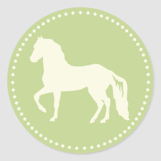 Adesivo Redondo Silhueta do cavalo de Paso Fino