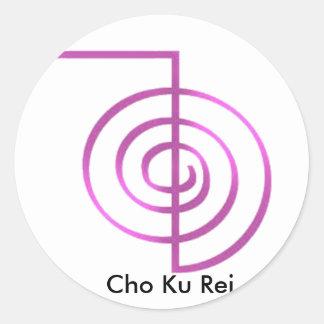Adesivo Redondo Símbolo cura de Cho Ku Rei Reiki