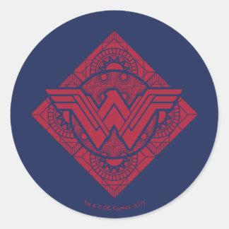 Adesivo Redondo Símbolo do Amazonas da mulher maravilha