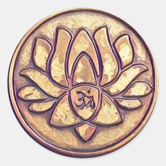Adesivo Redondo Símbolo do OM da ioga