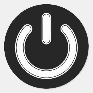 Adesivo Redondo Símbolo do poder (preto e branco)