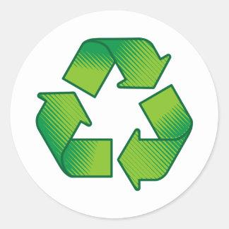 Adesivo Redondo Símbolo do reciclagem