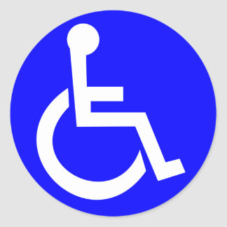 Adesivo Redondo Símbolo internacional do acesso