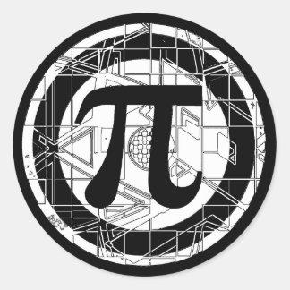 Adesivo Redondo Símbolo legal do Pi
