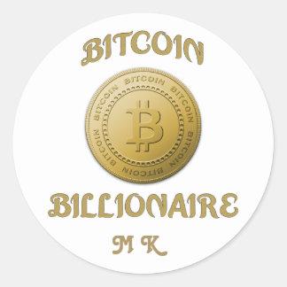 Adesivo Redondo Símbolo original Cryptocurrency do logotipo de