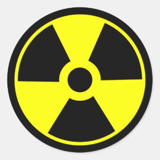 Adesivo Redondo Símbolo radioativo do símbolo da radiação nuclear