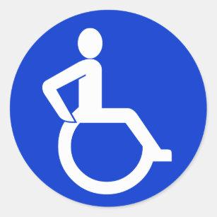 Adesivo Redondo Sinal da acessibilidade da cadeira de rodas