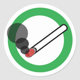 Adesivo Redondo Sinal de fumo