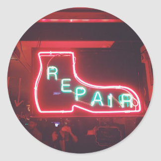 Adesivo Redondo Sinal de néon NYC de Repare