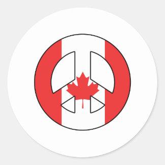 Adesivo Redondo Sinal de paz canadense