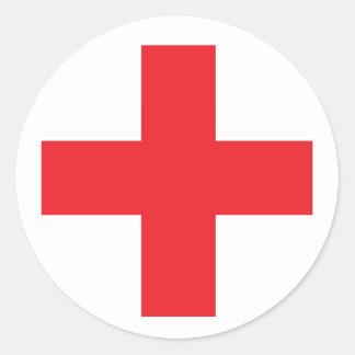 Adesivo Redondo Sinal do kit de primeiros socorros