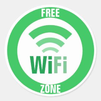 Adesivo Redondo Sinal livre de WiFi