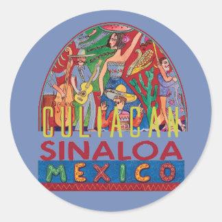 Adesivo Redondo SINALOA México