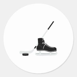 Adesivo Redondo Skate do hóquei em gelo
