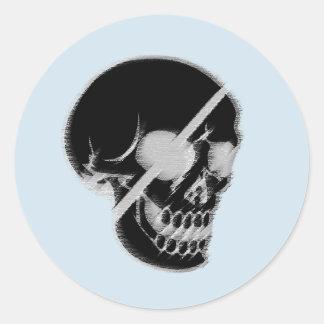 Adesivo Redondo Skull sticker