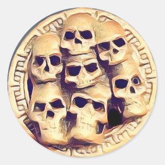 Adesivo Redondo Skullz