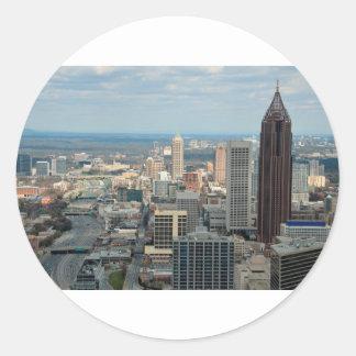 Adesivo Redondo Skyline de Atlanta