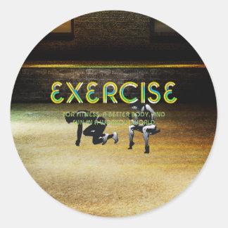 Adesivo Redondo Slogan SUPERIOR do exercício